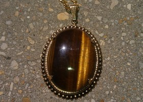 "Costume ""Tiger's Eye"" Necklace"