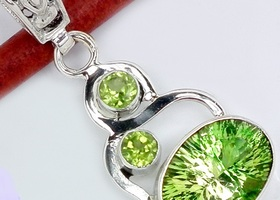 Beautiful Topaz Peridot Pendant