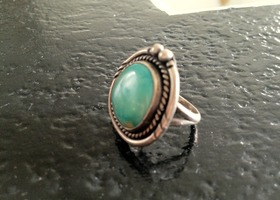 Beautiful Sterling Silver/Turquoise Navajo Ring