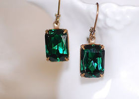 Vintage Emerald Estate Earrings