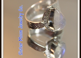 $10 Open Sterling Silver and Moonstone Ring