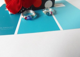 2 Hand Made Swarovski Birthstone Rings * Perfect mothers day present
