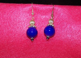 Bright Purple Dangle Earrings