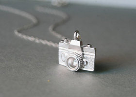 Sterling Silver Camera Necklace - Photography Necklace