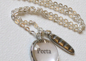 The Hunger Games Peeta book charm  necklace