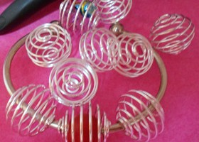 Huge Silver Colored Bead Cages