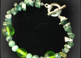 Sea Glass in Green Bracelet