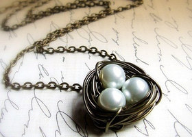 Nesting- Birds nest Necklace