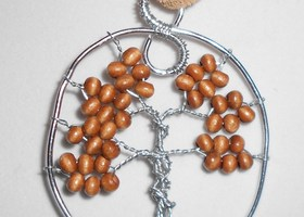 Tree of Life Pendant - Wooden Beads