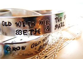 Come Grow Old With Me Hand Stmaped Love Bracelet