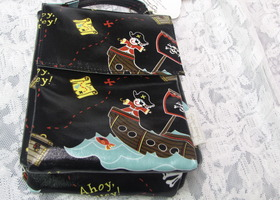 Insulated PIRATE lunchbag by Sugarbooger!