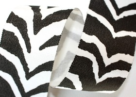 "Zebra Grosgrain Ribbon 2""wide x 10 yards"