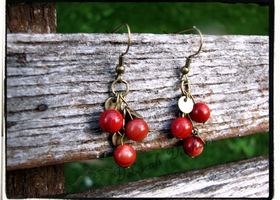 True Country Cherry Earrings.
