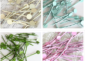 40 Bobby Pins with 8 mm Pads