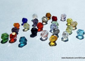 200 PLUS - 4mm Crystal Bicone Beads - Mixed colours