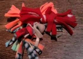 Assorted Kitty Knip Knots- Fringed - Set of 4 - ASSORTED - Catnip Toy - Catnip