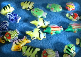 Gone Fishin' ! CERAMIC FISH CHARMS