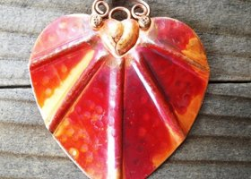 Artisan Crafted Solid Copper Heart Pendant