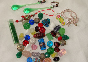 (45) Vintage Glass Beads Plus Four Extra Goodies