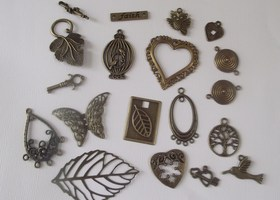 Mixed Set of Bronze Pendants and Components