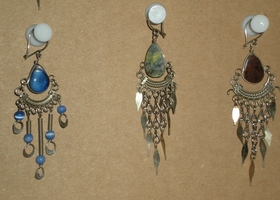 3 Pairs of Handmade Peruvian Earrings