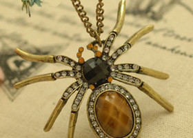 cute retro spider pendant