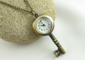 Key Pocket Watch Necklace