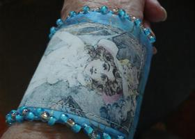 Mermaid Fabric Cuff Bracelet