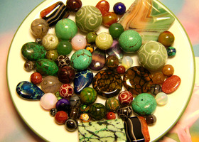 MOTHERLOAD Lot of 33 Genuine Gemstone Bead Pairs 66 Total!