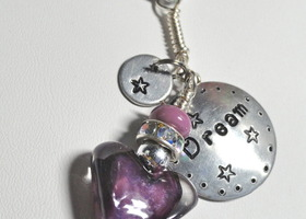 A Heart Can Dream Purple Lampwork Heart Necklace