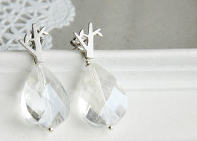 Diamond Tree Earrings