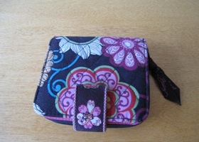 Vera Bradley Mini Zip Wallet in Mod Floral Pink