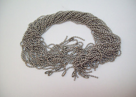 20 ballchain necklaces, 24 inch, aluminum  (lot doubles at 26$!)
