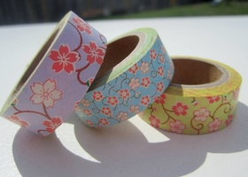Set of Floral Washi Tapes (3) ~ Bonus Roll at $10
