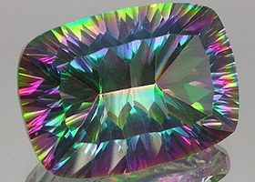 14.51 Carats Rainbow Quartz Concave Cushion Cut