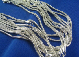 $1 10 Sterling Silver Snake Chains 18""