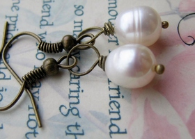 ♥♥Fresh Water Pearl Earrings♥♥