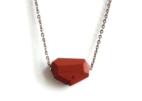 faceted jasper gemstone necklace