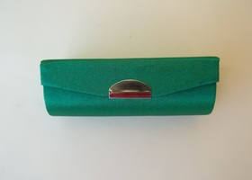 Green Satin Lipstick Case