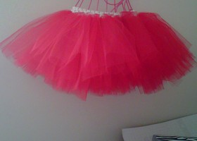 Red Tutu with white waist band
