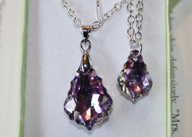 Swarovski Mother & Daughter matching necklace set