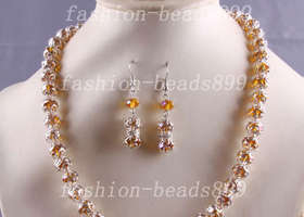 Swarovski Crystal Bead Necklace Set