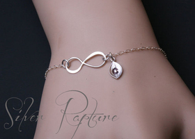 """ Infinate Love"" Couples/BFF Sterling Silver Bracelet!"