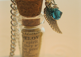 """Message in a Bottle""  Bible Passage Necklace"