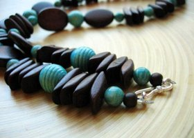 Cocoa & Aqua Chunky Necklace