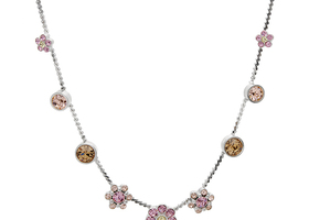PILGRAM Beautiful Pink Crystal Necklace