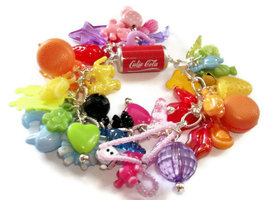 Colorful Gumball Charm Bracelet