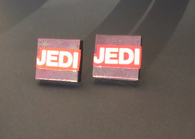 JEDI Earrings - Upcycled STAR WARS Comic Book/Scrabble Tiles