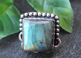 Labradorite Gemstone Ring - Size 6 - #0504