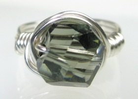 Black Diamond Swarovski Ring